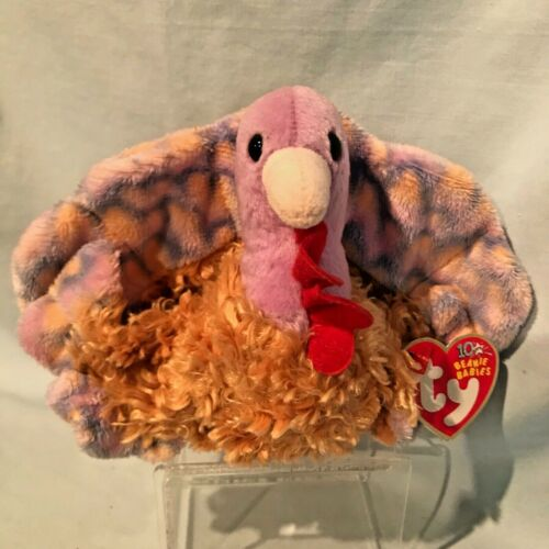 Tommy Turkey Ty Beanie Baby #40024 2003 PE Retired Thanksgiving $12.99