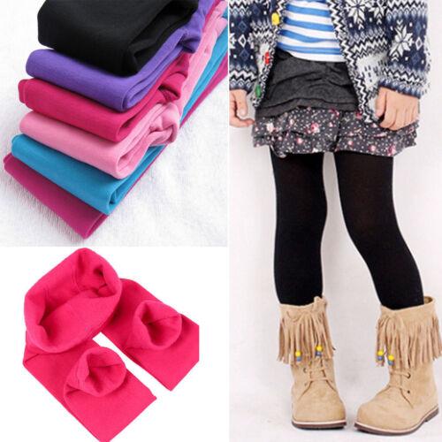 Toddler Kids Girls Winter Warm Fleece Lined Leggings Stretch