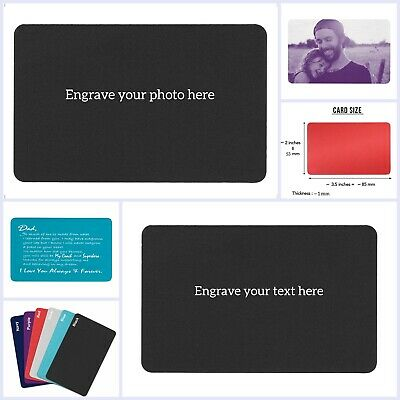 Personalized Photo/Text Custom Engraved Metal Wallet Mini Love Insert Card Gift](Custom Photo Cards)
