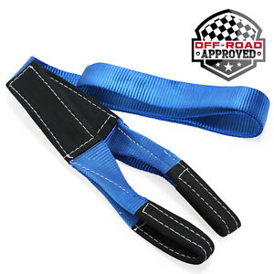 10' Tree Saver Trunk Protector Recovery Winch Tow Snatch Strap - 24,000 lb