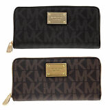 Michael Kors Jet Set MK Logo Zip Continental Wallet - Many Styles