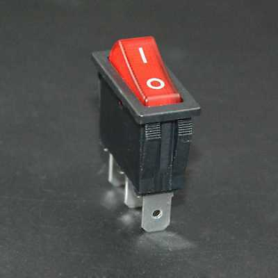 1pc Zing Ear Ze-235l Red Illuminated Rocker Switch 16 A Replace Canal Rh Series