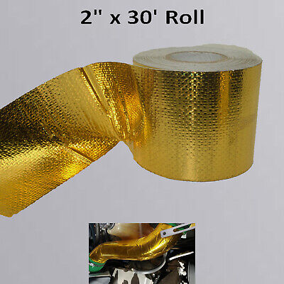 Gold Foil Heat Insulating Tape Hose Wrap Reflective Shield Adhesive 2x 30 Roll