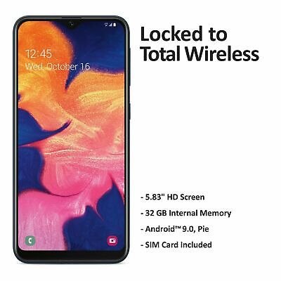 Android Phone - Total Wireless Samsung Galaxy A10e 4G LTE Prepaid Smartphone (Locked) - Black