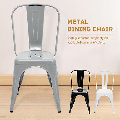 (Set of 4/2pcs Tolix Style Dining Side Chairs Stackable Bistro Cafe Metal Stools)