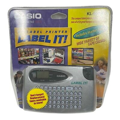 Casio Label It Kl-60sr-l Compact Ez Label Printer With Starter Tape New