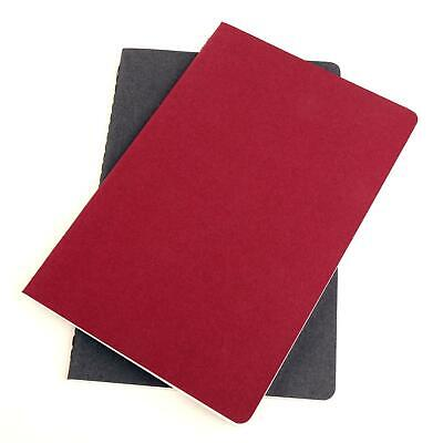 Kikkerland Writersblok Ultra Light 2x Notebooks Lined Ruled Note Pads Burgundy - Lite Line Notepad