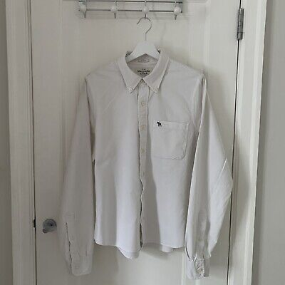 Abercrombie And Fitch Muscle Fit White Shirt Size XL