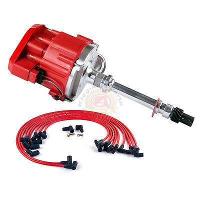 SBC Small Block Chevy 350 HEI Distributor & Plug Wires 90* Boot Kit New