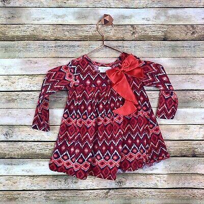 Bonnie Jean Top Little Girls 4T Red Shirt Kids Red Bow Tie Fancy Blouse - Fancy Girls Top