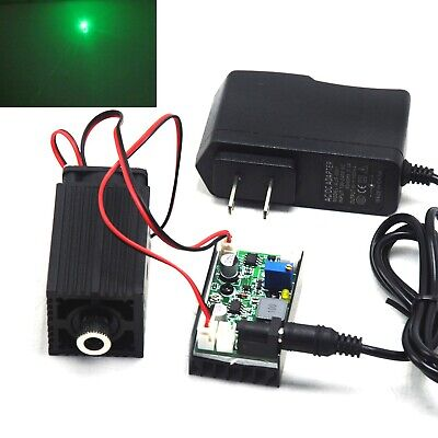 Focusable 520nm 1000mw 1w Green Dot Laser Diode Module Driver Ttl 12v Adapter