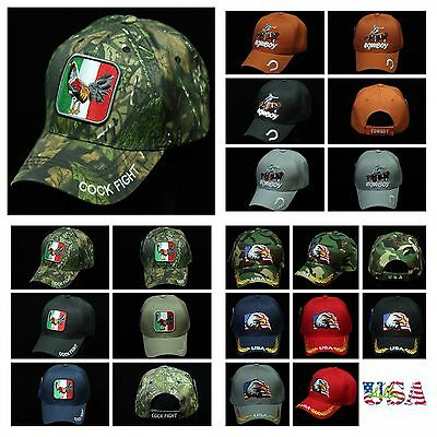 Baseball Cap US Flag Eagle Caps Rooster Cowboy Hat Camo  Army Rooster  Dad Hats ()