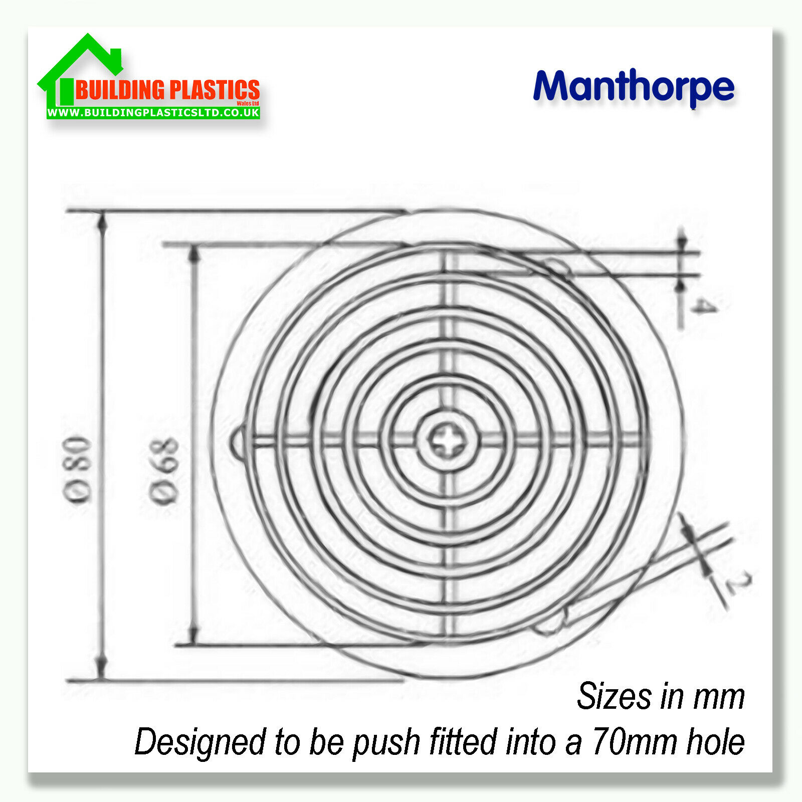 10 x 70mm BLACK SOFFIT ROOF AIR VENT UPVC Soffit Board Eaves Disc//Circle