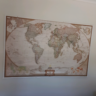 Large old world map collectables gumtree australia mount giant world map poster sciox Gallery
