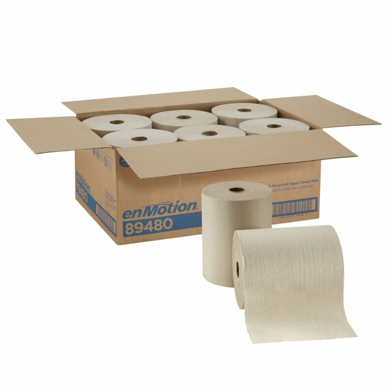 """enMotion 89480 Touchless Hardwound Paper Towel Roll 10"""" x 800"""