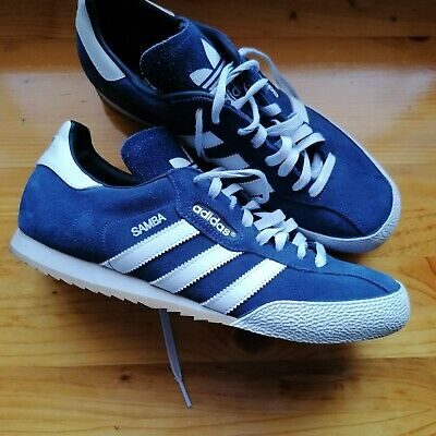 Adidas Mens Samba Super Suede Trainers Navy/W/Gum, used, size UK 10 ,without box