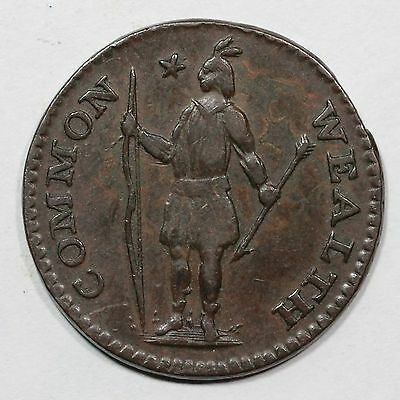 1787 R 2-A Massachusetts Half Penny Colonial Copper Coin