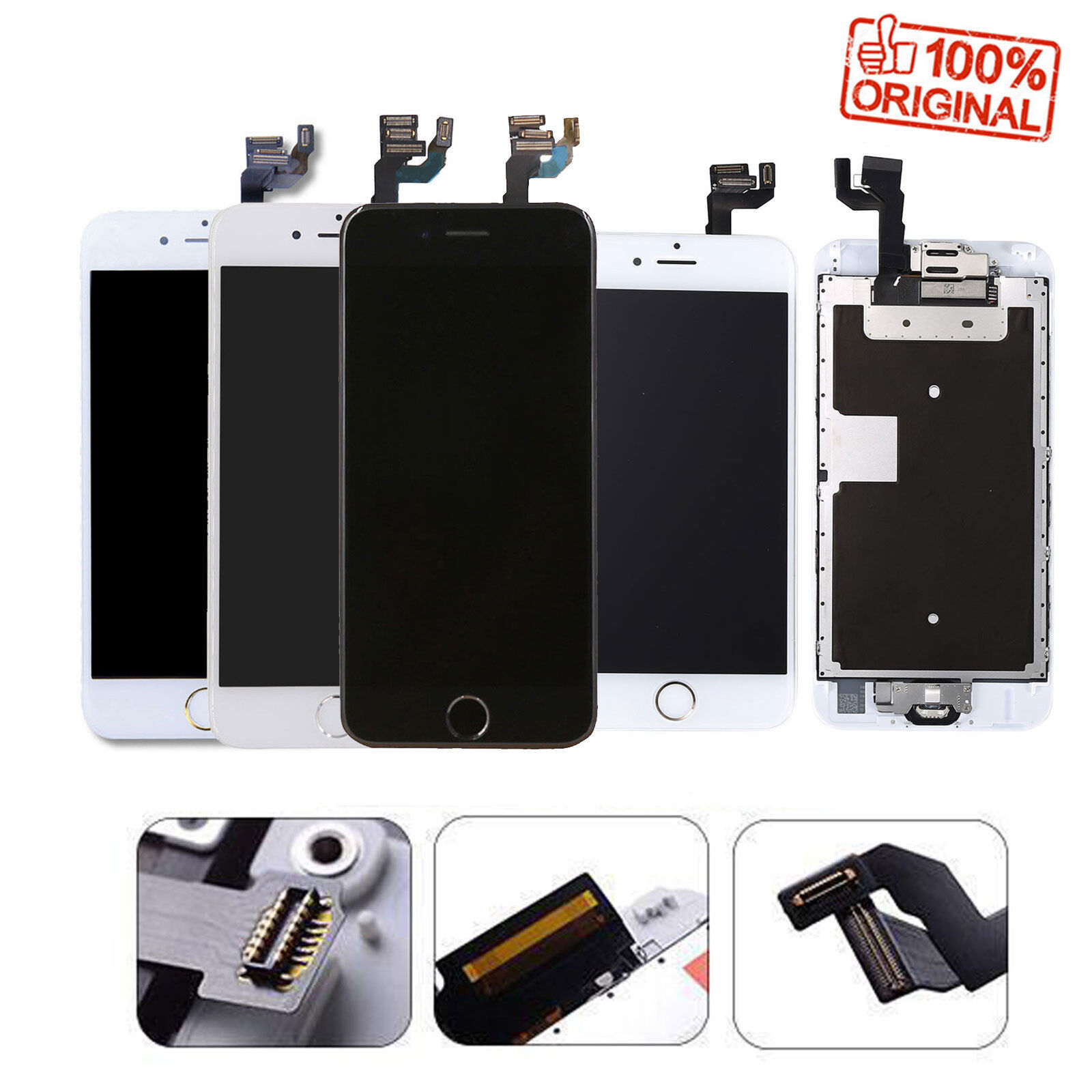 For iPhone 7 6 6s Plus 6 LCD Display Complete Screen Replacement Home Button