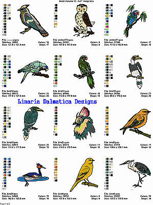 BEAUTIFUL BIRDS V.12(5X7) LD MACHINE EMBROIDERY DESIGNS