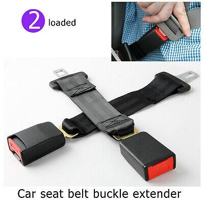 2pcs 35cm Car Seat Belt Extension Seatbelt Extender Buckle 2.1cm Improve Comfort