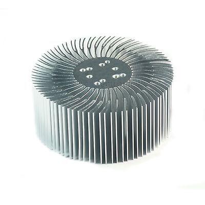 2pcs 3.5x1.5inch Round Spiral Aluminum Alloy Heatsink For 1-10w Led Silver White