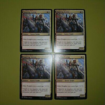 Inspiring Veteran x4 Throne of Eldraine 4x Magic the Gathering MTG