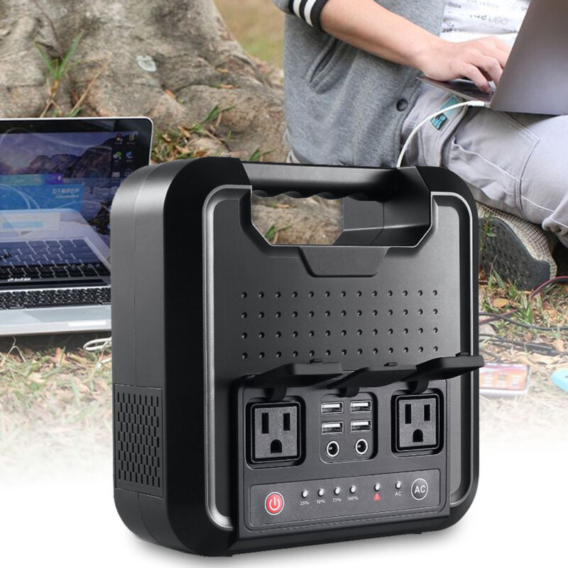 Solar Power Generator 200Wh Power Station Supply SOS Emergency USB DC/AC Charger
