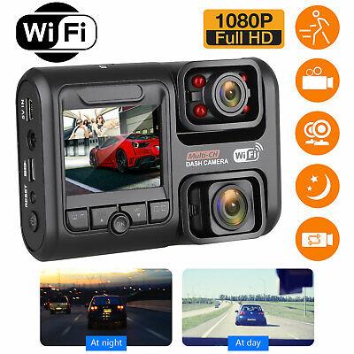 "1080P Dual Lens Car Dash Cam WiFi Front Inside Camera Infrared Night Vision 2.0"""