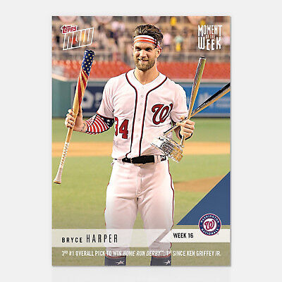 2018 BRYCE HARPER WINS ALL STAR HOME-RUN DERBY TOPPS MOMENT OF THE WEEK - Star Of The Week