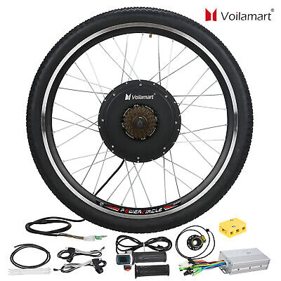 "1500W 48V Electric Bicycle Conversion Kit E Bike Motor Hub Speed 26"" Rear Wheel"