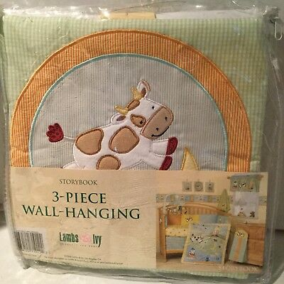 Lambs & Ivy Storybook Wall Hanging Cow Jumped Over The Moon Brown 2006
