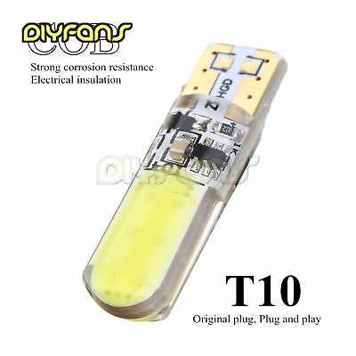 2PCS T10 194 W5W COB LED Car Kieselsäure Flash Light Bulb Lamp White 12V