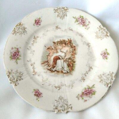 "Z S & CO. CUPID AND VENUS PLATE BAVARIA 6"" Dessert Plate Gilded ZS Women Cherub for sale  Emmaus"