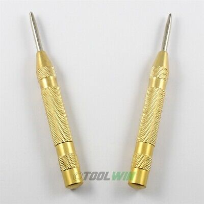 2 Pc Automatic Center Punch Set Spring Action