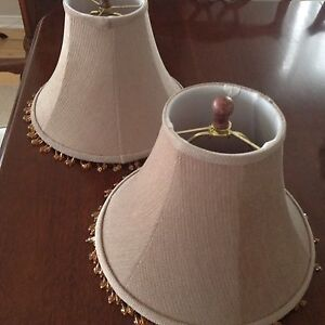 Taupe lampshades EEUC,