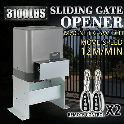 (SLIDING GATE OPENER DOOR OPERATOR 3100LBS CHAIN DRIVEN SLIDING GATES HEAVY DUTY)