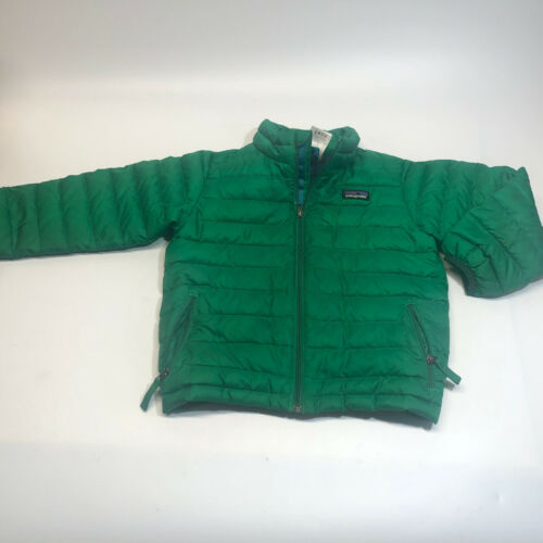 Patagonia Kids Baby Down Jacket 4T green, damaged, READ Duckdown