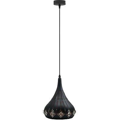 Moderno Lámpara Colgante Industrial Vintage Techo Estilo Retro Metal + Cristal