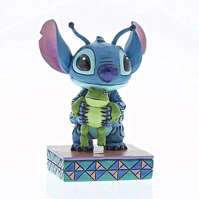 """Disney Traditions - Stitch with Frog Figure """"Strange Life-Forms"""" - New for 2018"""