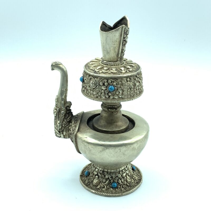 Asian antique White copper pot from Nepal