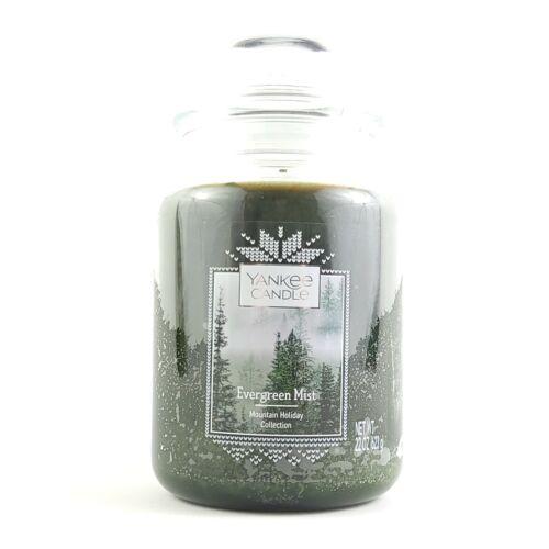 Yankee Candle Holiday Evergreen Mist Large Jar 22 OZ. Candle.