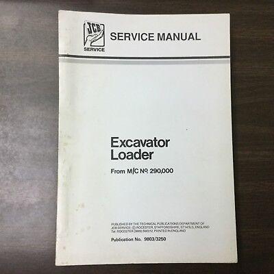 Jcb Excavator Service Shop Manual Tractor Backhoe Loader Guide 98033250 3cx 4cx
