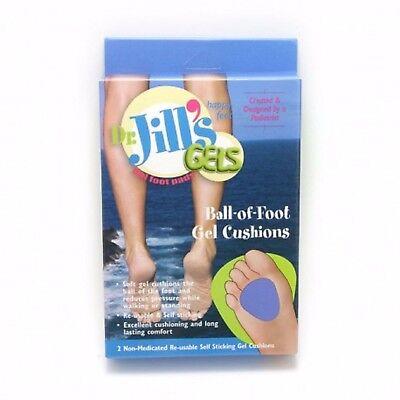 Dr. Jill's Gel Ball-of-Foot Cushions, Regular, Purple,  Washable/Re-usable - Dr Jills Gel