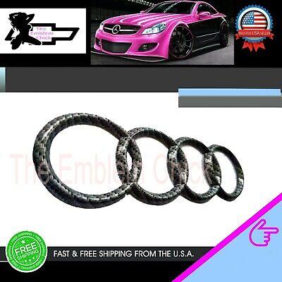 AUDI Carbon Fiber Front Grille Rings Emblem A1 A3 A4 S4 a5 s5 a6 a8 bta5728403 x