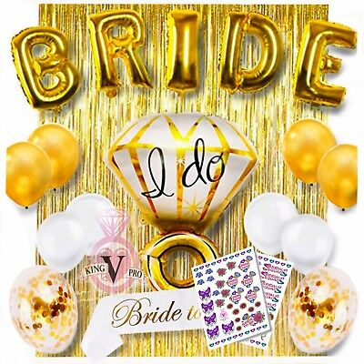 18 Piece Bachelorette Wedding Party Shower Decorations Plus Full Color Tattoos