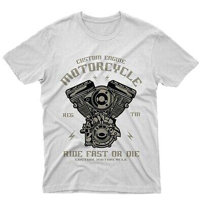 Fm10 T-Shirt Custom Engine Motor Motorrad Geschenkidee Motorradfahrer Engines