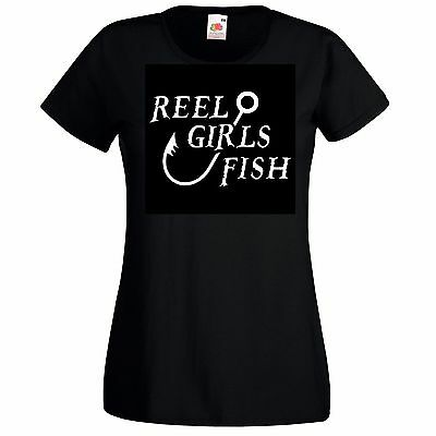 Fish Girl Fitted Shirt - Reel Girls Fish T Shirt Lady-Fit