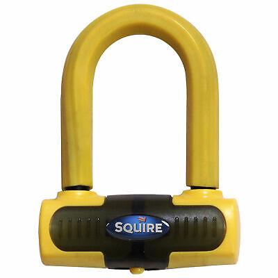 Squire Eiger Mini Motorcycle Bike Brake Disc U Lock Sold Secure Gold Yellow