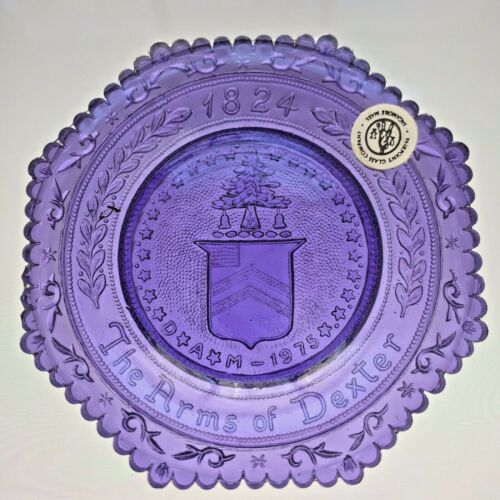 Dexter Family Ireland Coat of Arms Michigan Octagon Vintage Pairpoint Cup Plate