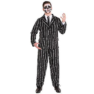 Herren Knochen Anzug Kostüm Karneval Fasching Halloween Skelett Motto - Karneval Motto Party Kostüm